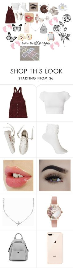 """""""Let's Be KIds again"""" by chapbl on Polyvore featuring Hollister Co., Helmut Lang, Minnie Grace, Olivia Burton, Kate Spade and FOOTPRINTS"""