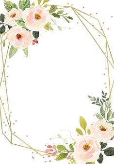 Wedding Invitation Layout, Birthday Invitation Card Template, Invitation Card Design, Floral Invitation, Birthday Invitations, Wedding Invitations, Printable Invitation Templates, Deco Baby Shower, Wedding Backdrop Design