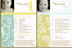 Moon Ko's milestone cards make a mini Baby Album
