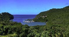 La baie de Marigot à Sainte-Lucie