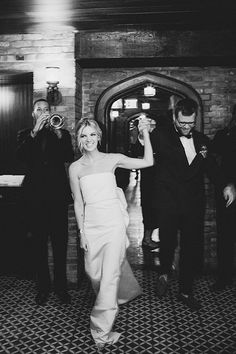 The bride and groom at the Bowery Hotel in New York | @sammblakephotographer | Brides.com