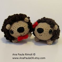 Amigurumi Puercoespin patron de crochet by Ana Paula Rimoli <3