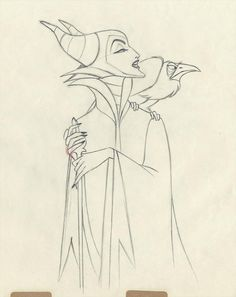 Sleeping Beauty (1959) even in silhouette, ultimate in intimidating. Malificent my favorite Disney Villain