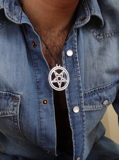Excited to share the latest addition to my #etsy shop: Star of David Necklace, Black Robe Necklace, Men