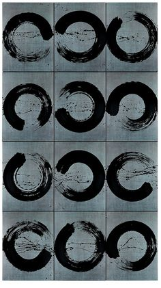 Allllmost circle would be interesting to play with Japanese Calligraphy, Calligraphy Art, Caligraphy, Modern Art, Contemporary Art, Design Art, Graphic Design, Black And White Abstract, Paintings I Love
