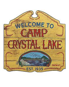 Welcome to Camp Crystal Lake Sign - Friday the Halloween Village, Scary Halloween Decorations, Halloween Home Decor, Halloween Signs, Spirit Halloween, Spooky Halloween, Halloween 2020, Retro Halloween, Halloween Stuff