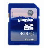 Kingston 4 GB Class 4 SDHC Flash Memory Card SD4/4GB (Personal Computers)By Kingston
