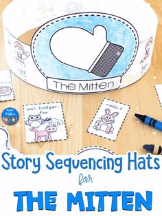 Make sequencing FUN with these hats that go along with the story The Mitten by Jan Brett