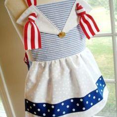 Sailor & Clown Knot Aprons for Children | YouCanMakeThis.com