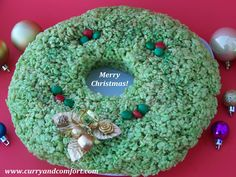 Rice Krispie Christmas Wreath
