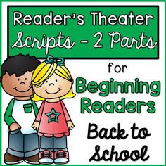 Reader's Theater Scripts - These plays can be used for centers, Language Arts activities, fluency practice, partner reading, etc.These plays are designed and created with beginning readers in mind. Each play has large font, picture clues, and predictable word patterns. Ten plays are included. Eac...