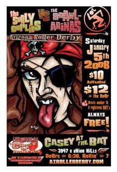 Arizona Roller Derby Poster by ~robmarkham on deviantART