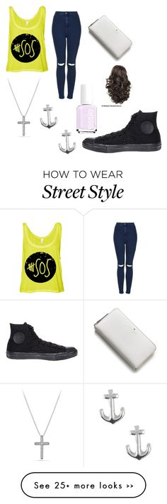 """""""Untitled #1666"""" by beau-4-ever on Polyvore featuring Topshop, David Yurman, Jewel Exclusive, Essie, Kate Spade and Converse"""