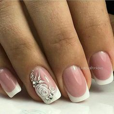 Gel Nail Designs You Should Try Out – Your Beautiful Nails Elegant Nail Designs, Elegant Nails, Stylish Nails, Pink Nails, Gel Nails, Nagel Bling, Bride Nails, Wedding Nails Design, Nagel Gel