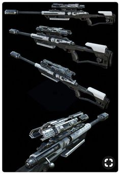 Anime Weapons, Sci Fi Weapons, Weapon Concept Art, Fantasy Weapons, Weapons Guns, Guns And Ammo, Armes Futures, Future Weapons, Cool Guns