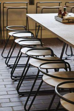 Barbican Center Food Hall - Stefan Bench (furniture designer)