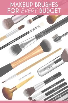 We've rounded up 22 of the best makeup brushes —at various price points—for a flawless makeup routine. #beauty