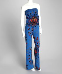 Take a look at this Blue Martini Erika Strapless Jumpsuit - Women by Unaluna on #zulily today!