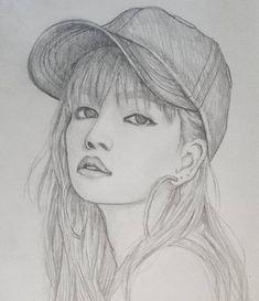 Kpop Drawings, Cute Drawings, Pencil Drawings, Teaching Drawing, Female Drawing, Art Prompts, Art Icon, Kpop Fanart, Paintings I Love
