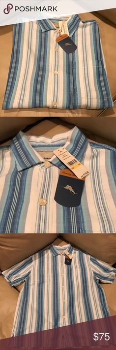 NWT Tommy Bahama Button Down 100% Silk New with tags. Tommy Bahama Button Down Shirt. Made with 100% silk. Size Medium. Shirt doesn't get wrinkle! Very sharp looking shirt! Bundle for deals! Tommy Bahama Shirts Casual Button Down Shirts