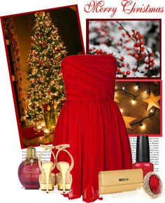 """""""Merry Christmas!"""" by amaljen ❤ liked on Polyvore"""
