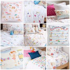 Tiny Tiddlers blog: Zara home kids collection: beach themed bedroom: beach illustration
