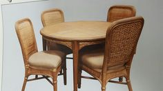 Stunning Light Oak Wood and Rattan Dinette Choose your seat Upholstery from thousands of beautiful coastal and traditional fabrics! Melbourne Florida, Dining Chairs, Dining Table, Atlantic Furniture, Traditional Fabric, Light Oak, Coastal Living, Rattan, Home Remodeling