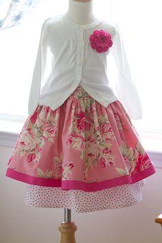 Rose Twirly Skirt