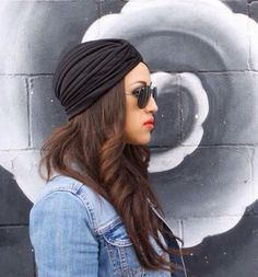 Trendy Black Turban by MYCACouture on Etsy