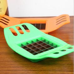 2016 Stainless Steel Cutter Cut Fries Device French Fry Fries Potatoes Vegetable Slicer Kitchen Accessories Random Color #clothing,#shoes,#jewelry,#women,#men,#hats,#watches,#belts,#fashion,#style