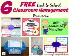 6 FREE Back to School Classroom Management Resources.Since the start of the school year is right around the corner, I wanted to share these FREE resources and tips with you to help with classroom management.