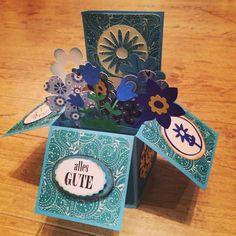 Karte in der Schachtel zum Geburtstag Card in a box for birthday