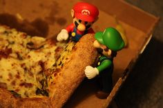 Reminds me of Angelo and Justin...pizza LOVERS!