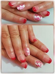 French rosso fragola fiori