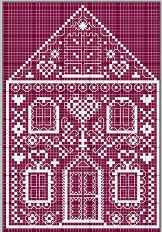 Cottage Cross stitch pattern