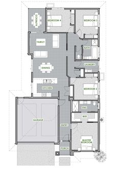 Botany Floor Plan - Green Homes Australia Energy Efficient Homes, Energy Efficiency, Cruelty Free Makeup List, Green Homes, Spring Design, Natural Cleaning Products, Botany, House Plans, Floor Plans