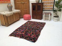 Bohemian rug Traditional Moroccan Rug 3x5 by Beniouraincarpets