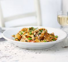 Make your own pappardelle and you may never go back to shop-bought pasta. Fresh crab adds a touch of luxury to a sauce rich with tomatoes and broad beans Vegetable Puree, Bbc Good Food Recipes, Healthy Recipes, Broad Bean Recipes, Latest Recipe, Bellisima, Pasta Recipes