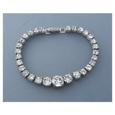Kramer Rhinestone Bracelet, Art Deco 1940s Vintage Jewelry WINTER SALE ($48) ❤ liked on Polyvore featuring jewelry, bracelets, vintage art deco jewelry, vintage bangle, vintage jewelry, vintage jewellery and rhinestone jewelry