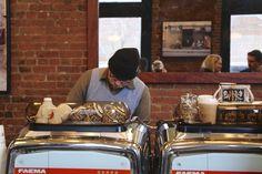 A busy barista