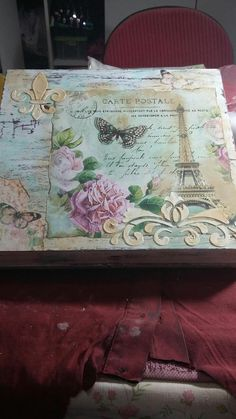 Vintage look, decoupage box Paris Vintage look, decoupage box Paris Decoration Shabby, Decoupage Box, Pretty Box, Altered Boxes, Wood Creations, Art Journal Inspiration, Vintage Wood, Crafts To Do, Box Art