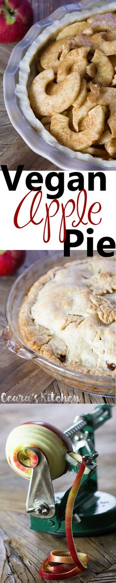 A traditional Rustic Vegan Apple Pie filled with a sweet and flavorful cinnamon-sugar apple mixture. This pie is perfect to serve for the holidays with a big scoop of vegan vanilla ice cream!