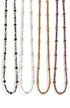 Nordstrom crystal collection necklaces.