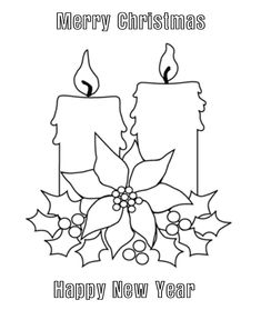 christmas candles coloring pages merry christmas candles