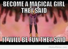 Become a magical girl... it will be fun...(Anime-Madoka Magica)