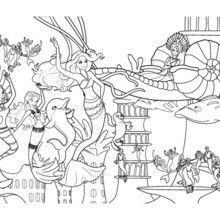 MERMAIDS PARTY Under The Sea Free Barbie Coloring Page