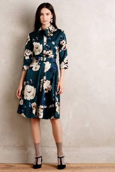 Gallica Silk Shirtdress by Samantha Sung; but please lose the socks and get some better shoes...why ruin a great dress?