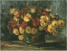 Vincent van Gogh's Cuenco con los crisantemos Painting
