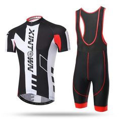 Men's Black Short Sleeve Cycling Jersey Set #Cycling #CyclingGear #CyclingJersey #CyclingJerseySet 3d