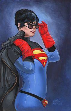 Supergirl painting.